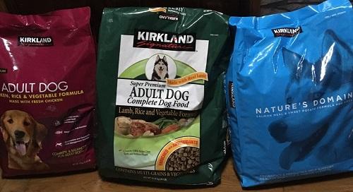 カークランドのドッグフード3種類 3 kinds of dog food in Kirkland