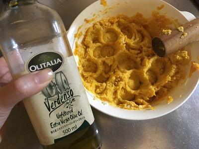 かぼちゃとオリーブオイル