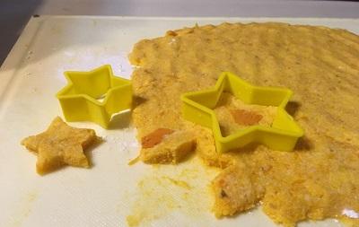 かぼちゃクッキーの生地
