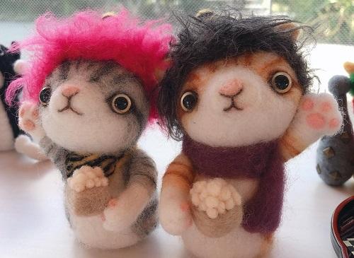 羊毛フェルトの猫