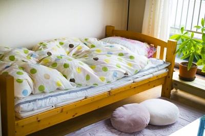 自宅のベッド
