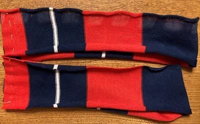 袖部分の仮縫い