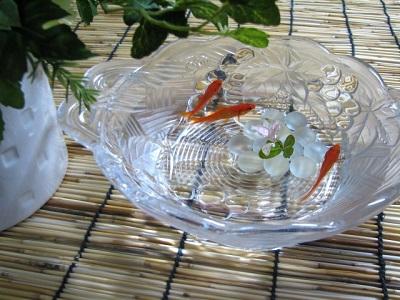 金魚と金魚鉢