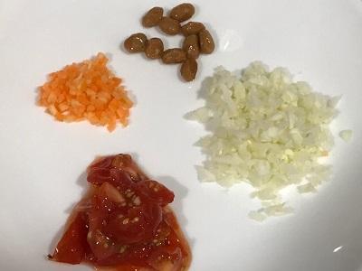 納豆ミネストローネ材料