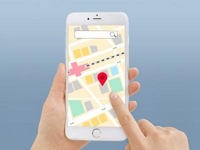 地図アプリで検索
