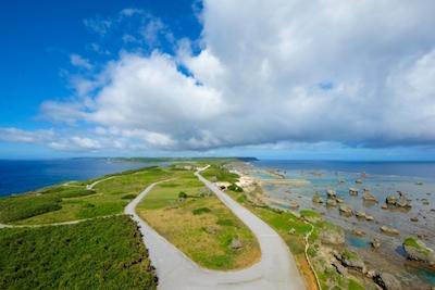 宮古島 東平安名崎灯台からの景色