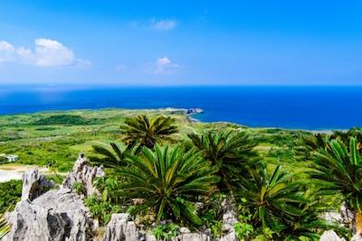 沖縄県 大石林山から見る辺戸岬