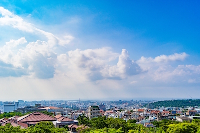 沖縄県 首里城 西のアザナから見る景色